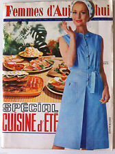 ?Femmes d'Aujourd'hui N°1051 du 24/06/1965; Entretien Monica Vitti/ Cuisine d'ét
