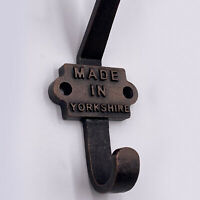 Made in Yorkshire - Cast Iron Coat Hook - Vintage Retro - GREAT STOCKING FILLER