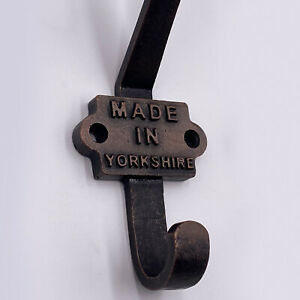 Made in Yorkshire - Cast Iron Coat Hook - Vintage Retro