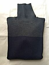DOLCE & GABBANA GRAY WOOL TURTLENECK COLOR BLOCK SLIM FIT SWEATER SIZE XL EU 54