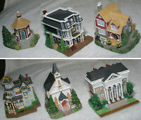 Liberty Falls 6 Miniature Bldgs Bank Church Saloon Lodge Americana Western Mint