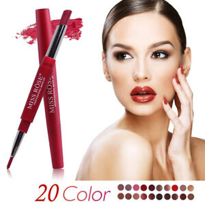 Double Head Long Lasting Pencil Lipstick Pen Waterproof Matte Lip Liner Makeup
