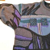 A. Diner Canada Mens Vtg Mod Coogi Sweater 2XL Retro Colorful Biggie Pullover