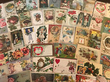 NICE Mixed LOT of 55~HOLIDAYS & GREETING POSTCARDS~Santa-in Sleeves-k652