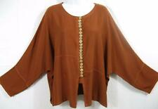 TIENDA HO~COPPER~MOROCCAN COTTON~Asian Inspired Zawia Top~Free(M-1X?)