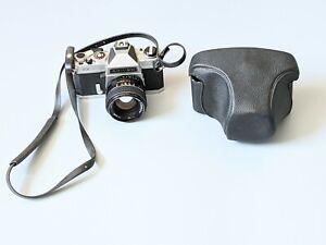 Vintage Chinon CX Camera with Auto Chinon 1:1.4 f=55mm Lens & Case Untested