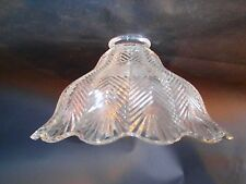 Glass Floor Or Fixture Wall Lamp Shade Herringbone Style Globe's