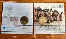 5 Piso Leyte Gulf Landing Mac Arthur Commemorative Coin in Blister pack 2014