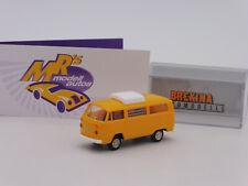 """Brekina 90928 # Volkswagen T2 Camper mit Hubdach in """" orange-weiß """" 1:87 NEUHEIT"""