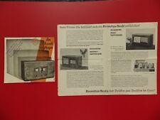 2 x altes Radio Prospekt SCHAUB Dreikreis und Kosmodyn um 1938 ( F 17291