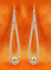 Indian Gorgeous Zircons Made Ear Cuff Earring Set American Diamond Jewelry