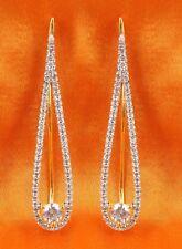 1056 Indian Gorgeous Zircons Made Ear Cuff Earring Set American Diamond Jewelry