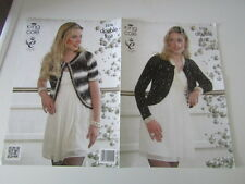 "Ladies Long and Short Sleeved Beleros Knitting Pattern in DK sizes 32-44"""