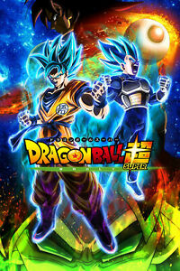Dragon Ball Super - The Broly Movie Poster - Goku Vegeta SSJ Blue - NEW - USA