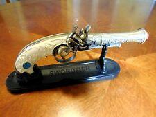 Replica Antique Pistol Table Gun w/Stand - Model 1820 -  18th Century Decor New