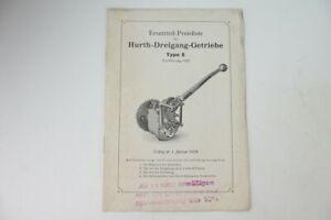 Hurth Motorrad Getriebe original Prospekt von 1930