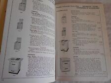 Vintage Catalogue Franco-belge lighting and home appliances kitchenalia 1954