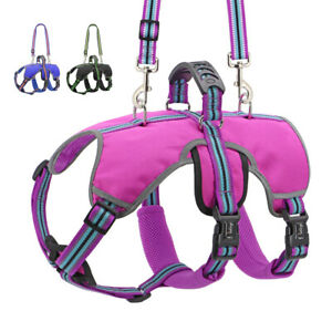 Dog Lift Support Harness Vest No Pull with Handle Reflective for Large Dogs S-XL