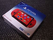 SALE PlayStation Vita Wi-Fi Console System PCH-2000 Metallic Red PS Vita