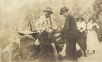 West Virginia Coal Miner Family Changing Tire Antique Car Jalopy Antique Photo