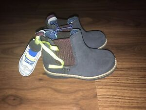 Ted Baker Boys Navy Blue Leather Boots Shoes Size 6 Infant New