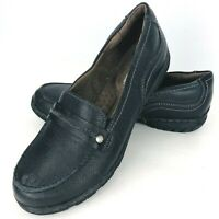 Natural Soul by Naturalizer Comfort Loafer Flats 6.5 M Black Leather Shoe
