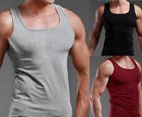 AU Men Slim Singlet T-Shirt Top Gym Training Bodybuilding Muscle Tee Shirt Vest