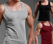 AU Men Slim Singlet T-Shirt Top Gym Training Bodybuilding Muscle Tee Shirt Vest
