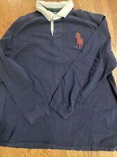 New listing polo ralph lauren xxl 2xl navy blue rugby shirt #2