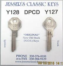 DPCD Y128 Y127 PLYMOUTH Nickel NOS Keys 1943 1944 1945 1946 1947 1948