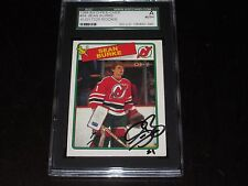 SEAN BURKE AUTOGRAPHED 1988-89 O-PEE-CHEE ROOKIE CARD-SGC SLAB-ENCAPSULATED