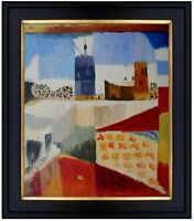 Framed Quality Hand Painted Oil Painting Repro Paul Klee Tunisreise 20x24in