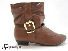 NEW Womens Shoes Slouch Ankle Boots Flat Comfort Booties Casual Round Toe CUTE