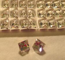 SWAROVSKI ® - 10 Pz Quadrato 4400-10 mm. Crystal Gold Foiled - Vintage Square