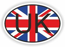 Uk United Kingdom Country Code Oval With Flag Sticker bumper decal car helmet