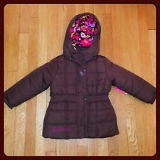 New CARTER'S 4-in-1 Reversible Hooded Jacket - BROWN - Size 4