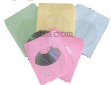500 Bustine Carta Colorata con aletta di chiusura - Colori Pastello per 1 CD/DVD