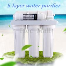 5 Stage Water Filter System Reverse Osmosis Filtration Drinking Home Purifier