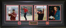 Tiger Woods PGA Golf Champion Grand Green Jacket 4 Photograph Collector Frame