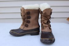 New LACROSSE Womens Sz 7 Waterproof Leather Insulated Boots Snow Winter Breaker