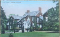 Easton, MD 1930s Hand-Colored Postcard: Hope House - Maryland
