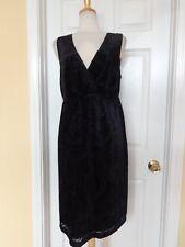 EDDIE BAUER black velvet dress size 14