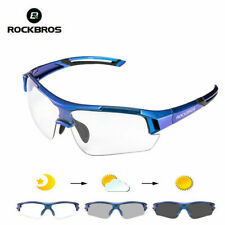 ROCKBROS Cycling Glasses Photochromatic Lens Sports Sunglasses Blue Goggles