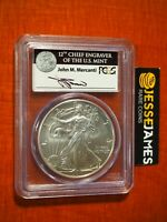 2011 W BURNISHED SILVER EAGLE PCGS MS69 MERCANTI FIRST STRIKE FROM 25TH ANN SET