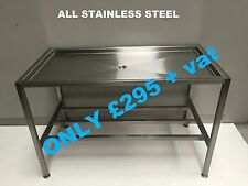 SAUSAGE TABLE ALL STAINLESS STEEL 1200mm ONLY£295+VAT BUTCHERS BENCH BLOCK MEAT