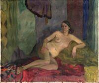 """Russischer Realist Expressionist Öl Leinwand """"Frauenakt"""" 140x120 cm"""