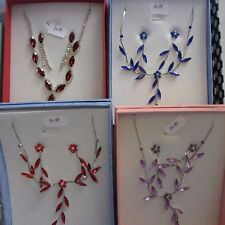 Wholesale & Job Lots 10 - Necklace & Earrings Sets Free Gift Boxes