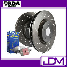 FOR TOYOTA HILUX 4WD RN 105, LN 106, YN 106 88-97 SLOTTED Front Brake Discs/Pads