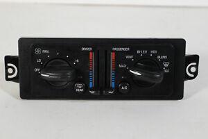 97 01 02 03 04 2005 Buick Century OEM Dual Heater AC Fan Switch Climate Control