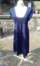 The Masai Clothing Company dark blue tunic calf length dress (S/M)